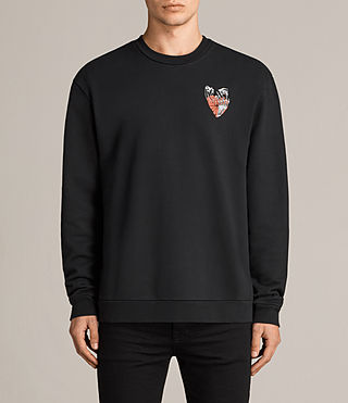 Mens Worship Switch Crew Sweatshirt (Black) - Image 1