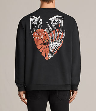 Mens Worship Switch Crew Sweatshirt (Black) - Image 2