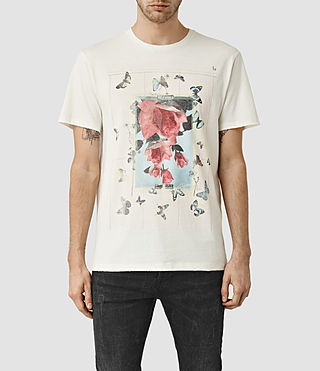 Hommes Taped Crew T-Shirt (Chalk White)