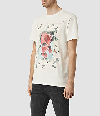 Mens Taped Crew T-Shirt (Chalk White) - product_image_alt_text_2