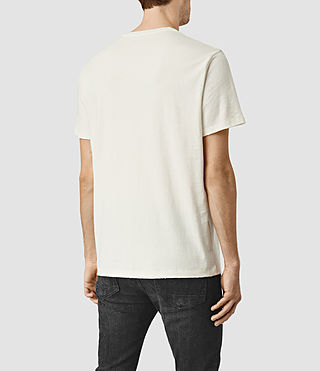 Mens Taped Crew T-Shirt (Chalk White) - product_image_alt_text_3
