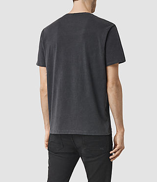 Uomo Taped Ss Crew (Vintage Black) - product_image_alt_text_3