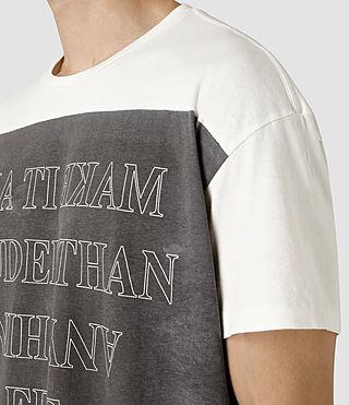 Hombre Loud Crew T-Shirt (Chalk White) - product_image_alt_text_2