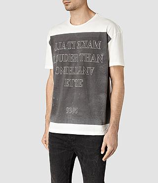 Hombre Loud Crew T-Shirt (Chalk White) - product_image_alt_text_3