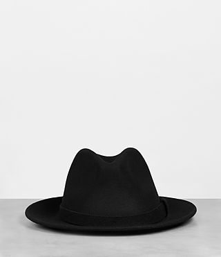 Mens Bronson Fedora Hat (Black)