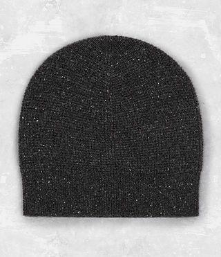Mens Hiru Cashmere Beanie (Dark Charcoal Mrl) - product_image_alt_text_1