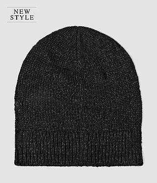 Mens Ektarr Beanie Hat (Washed Black)
