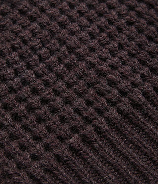Mens Tornn Beanie (DAMSON RED MARL) - product_image_alt_text_2