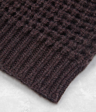 Mens Tornn Beanie (DAMSON RED MARL) - product_image_alt_text_3