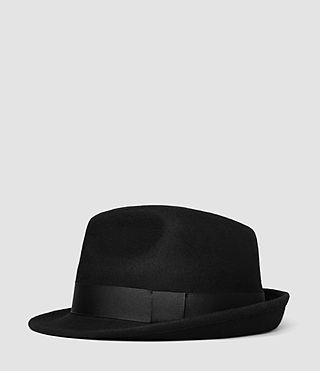 Hommes Charge Trilby Hat (Black)