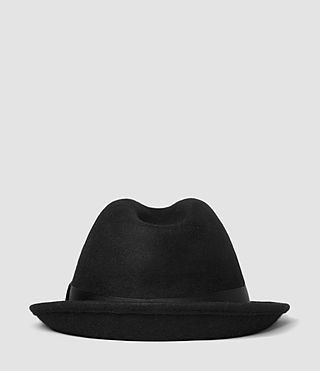 Herren Charge Trilby Hat (Black) - product_image_alt_text_3