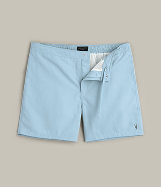 Mens Warden Swim Shorts (Sky Blue) - product_image_alt_text_1