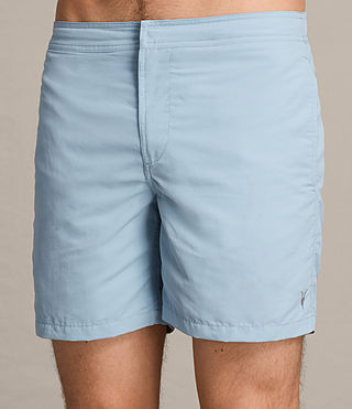 Mens Warden Swim Shorts (Sky Blue) - product_image_alt_text_2