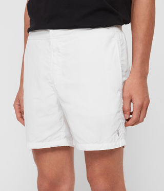 Mens Warden Swim Shorts (Chalk White) - product_image_alt_text_4