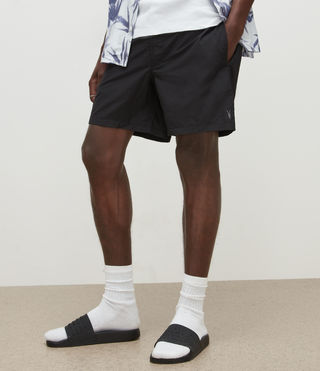 Mens Warden Swim Shorts (Jet Black) - product_image_alt_text_2