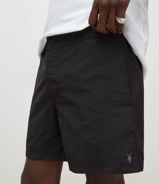 Mens Warden Swim Shorts (Jet Black) - product_image_alt_text_3
