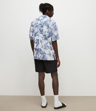 Mens Warden Swim Shorts (Jet Black) - product_image_alt_text_4