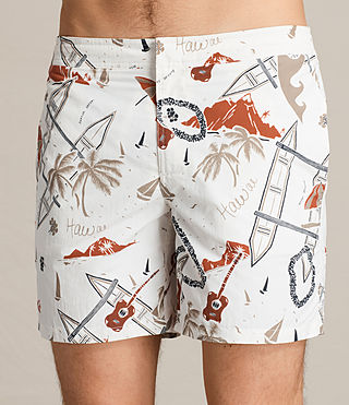 Men's Waikiki Swim Shorts (ECRU WHITE) - product_image_alt_text_2