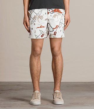 Men's Waikiki Swim Shorts (ECRU WHITE) - product_image_alt_text_3
