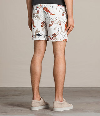 Men's Waikiki Swim Shorts (ECRU WHITE) - product_image_alt_text_4