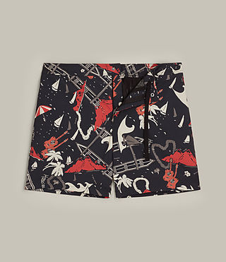 Mens Waikiki Swim Shorts (Jet Black) - product_image_alt_text_1
