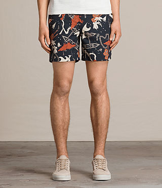 Mens Waikiki Swim Shorts (Jet Black) - product_image_alt_text_3