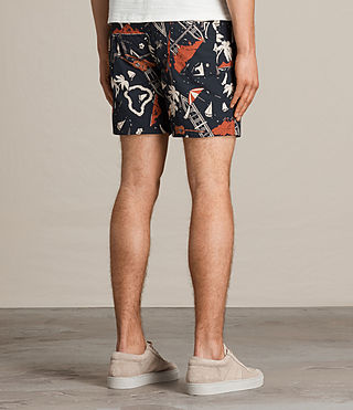 Mens Waikiki Swim Shorts (Jet Black) - product_image_alt_text_4