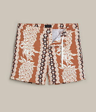 Men's Ananas Swim Shorts (SUNSTONE RED) -