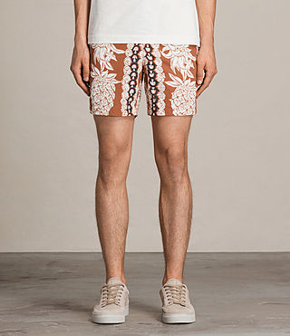 Men's Ananas Swim Shorts (SUNSTONE RED) - product_image_alt_text_3