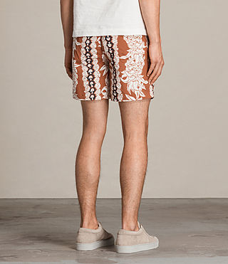 Men's Ananas Swim Shorts (SUNSTONE RED) - product_image_alt_text_4