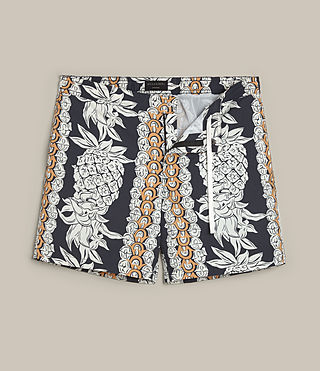 Men's Ananas Swim Shorts (INKNAVY/ECRUWHITE) -