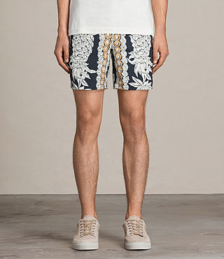 Men's Ananas Swim Shorts (INKNAVY/ECRUWHITE) - product_image_alt_text_3