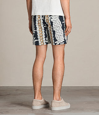 Men's Ananas Swim Shorts (INKNAVY/ECRUWHITE) - product_image_alt_text_4