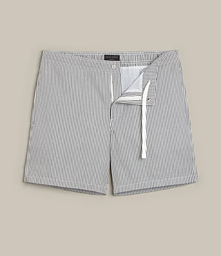 Mens Seersucker Swim Short (INK NAVY/CHALK WHT) - product_image_alt_text_1