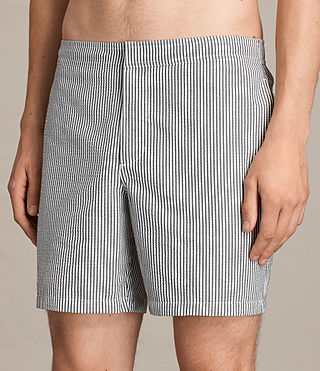 Mens Seersucker Swim Short (INK NAVY/CHALK WHT) - product_image_alt_text_2
