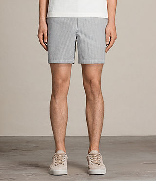 Mens Seersucker Swim Short (INK NAVY/CHALK WHT) - product_image_alt_text_3