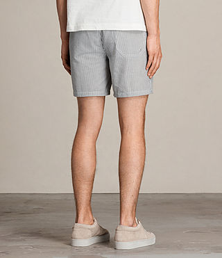 Mens Seersucker Swim Short (INK NAVY/CHALK WHT) - product_image_alt_text_4