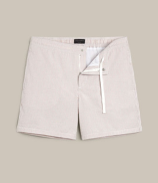 Hombre Seersucker Swimshort (DUSTY PINK/CHALK) - product_image_alt_text_1