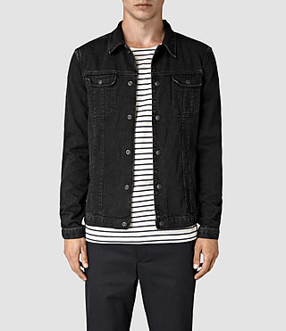 Hombres Storr Denim Jacket (Black)