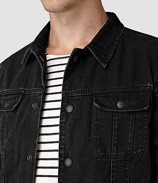 Hommes Storr Denim Jacket (Black) - product_image_alt_text_2