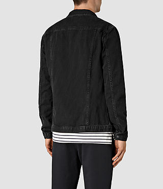 Hombres Storr Denim Jacket (Black) - product_image_alt_text_6