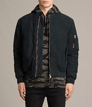 Mens Vale Bomber Jackets (Black) - product_image_alt_text_1