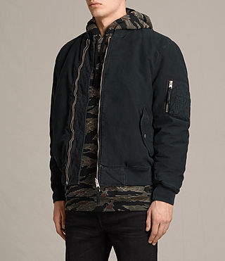 Mens Vale Bomber Jackets (Black) - product_image_alt_text_3