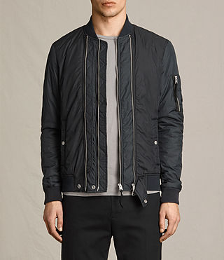 Mens Braddock Bomber Jacket (BLACK/SLATE GREY) - product_image_alt_text_1