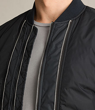 Mens Braddock Bomber Jacket (BLACK/SLATE GREY) - product_image_alt_text_3