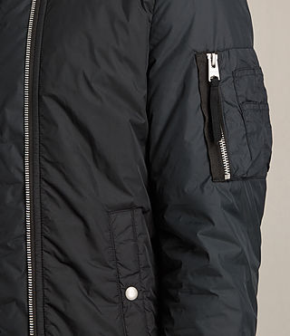Mens Braddock Bomber Jacket (BLACK/SLATE GREY) - product_image_alt_text_4