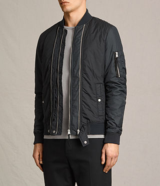 Mens Braddock Bomber Jacket (BLACK/SLATE GREY) - product_image_alt_text_5