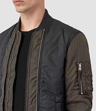 Mens Braddock Bomber Jacket (SLATE/KHAKI BROWN) - product_image_alt_text_2