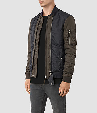 Hombres Braddock Bomber Jacket (SLATE/KHAKI BROWN) - product_image_alt_text_3