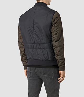 Mens Braddock Bomber Jacket (SLATE/KHAKI BROWN) - product_image_alt_text_4